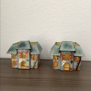 Set of 2 Halloween Haunted House Candle Holder
